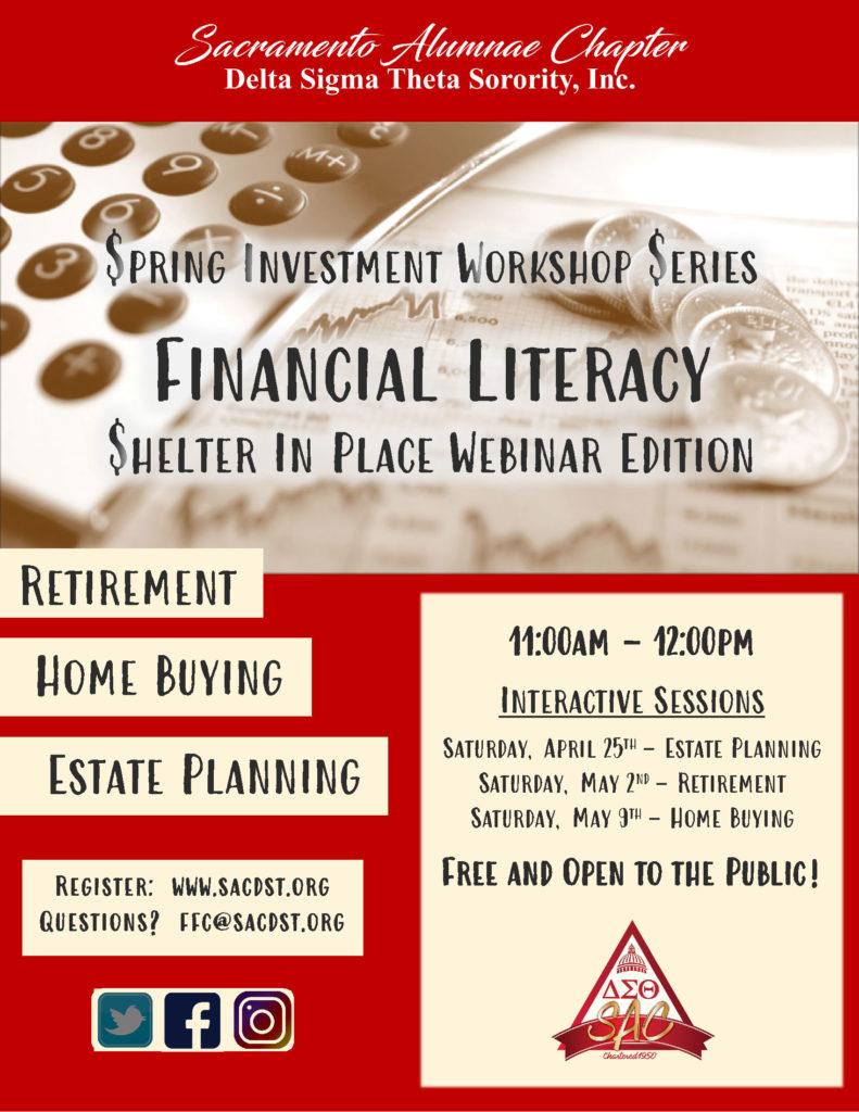 Financial Literacy Webinar Series information